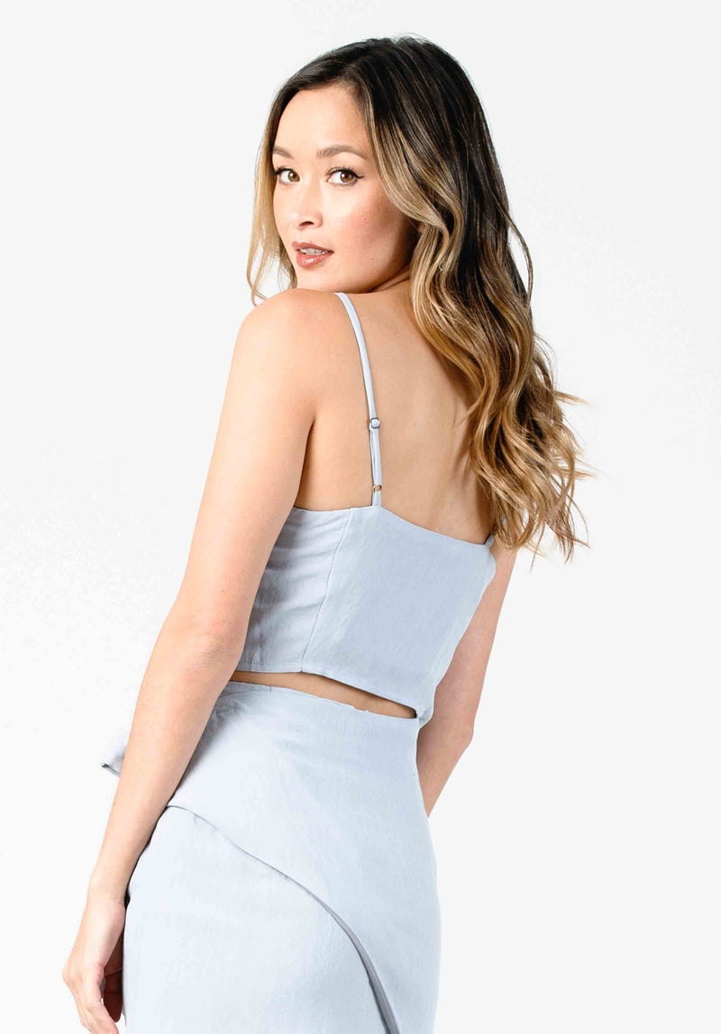 PETAL STRUCTURED CAMI CROP | SEA MIST