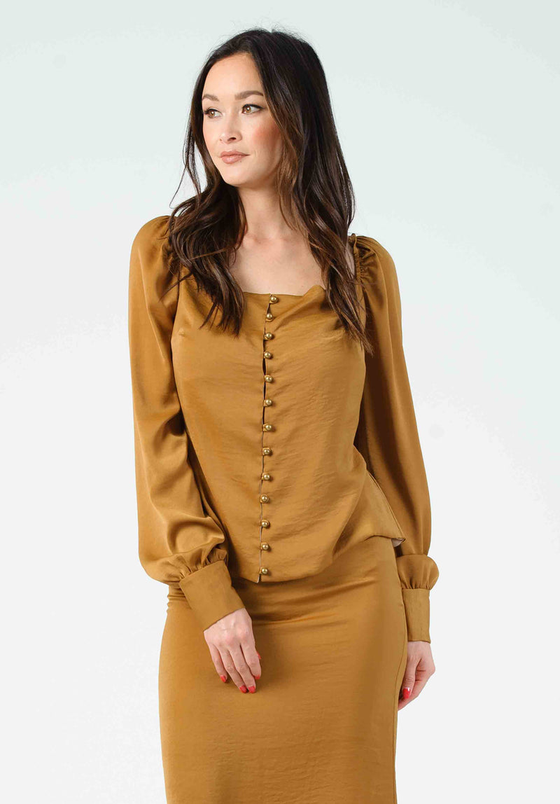 DAYNA PUFF SLEEVE BLOUSE | AMBER