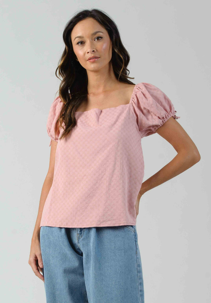 ACANTHA MINI PEPLUM TOP | GRANOLA STRIPE