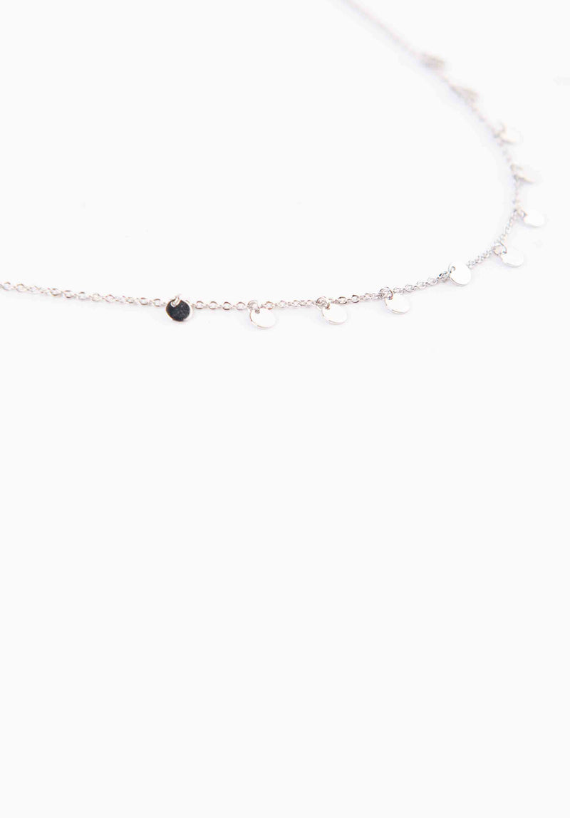 SMALL MEDALLION CHOKER | WHITE GOLD