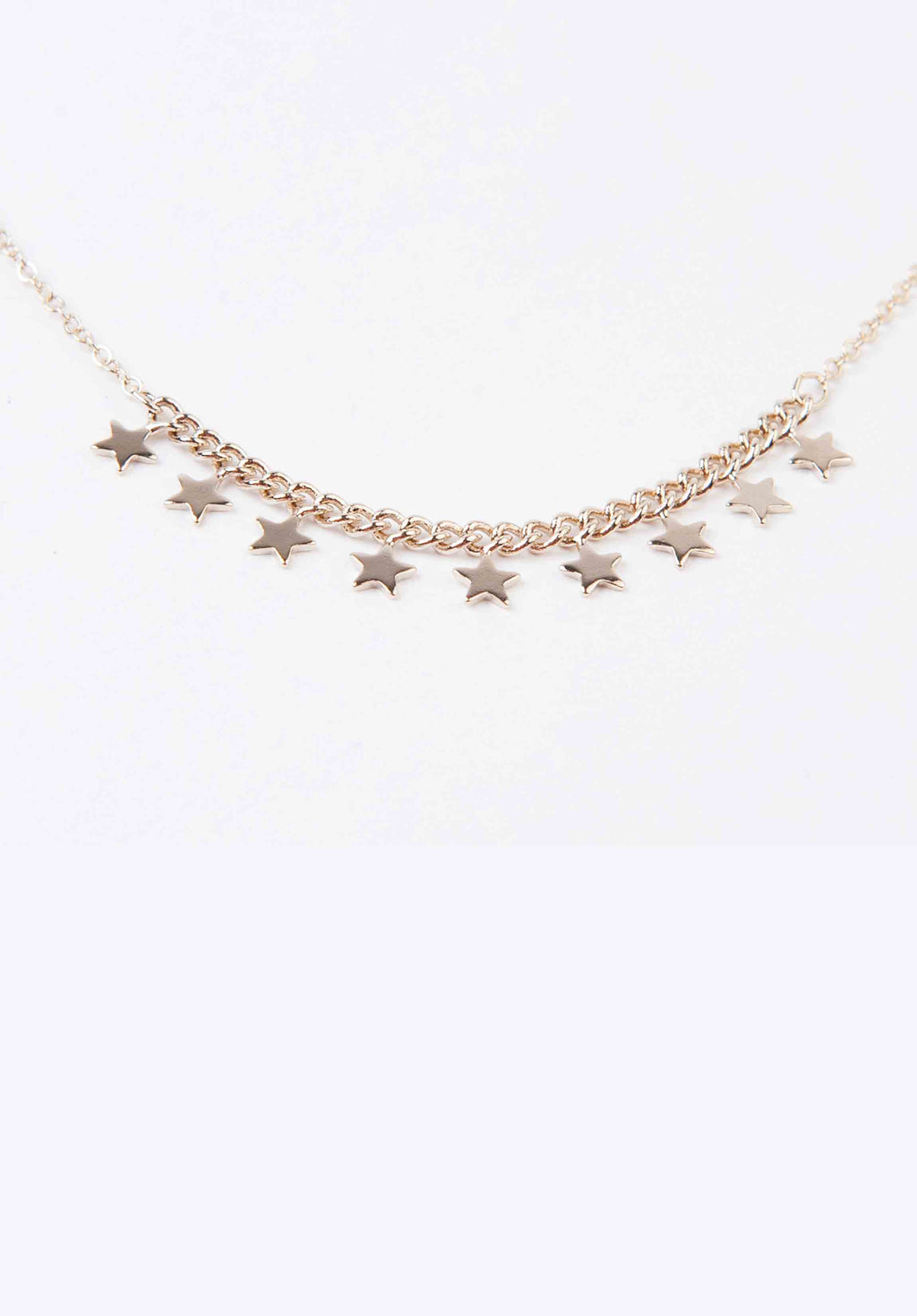MULTI STAR CHAIN NECKLACE | GOLD