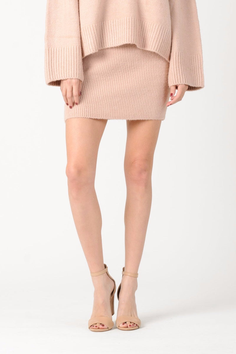 FITTED MINI SKIRT | PINK
