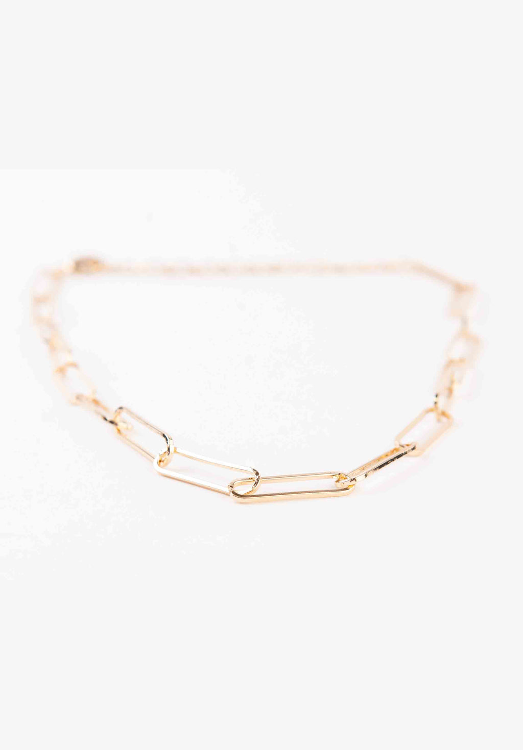 PAPER CLIP LINK NECKLACE | GOLD