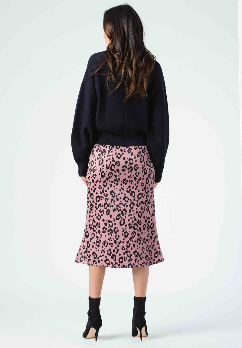 FROST BIAS CUT MIDI SKIRT  | MAUVE JAGUAR