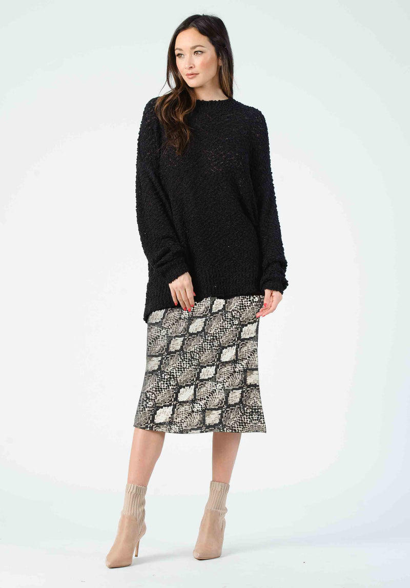 FROST BIAS CUT MIDI SKIRT | SNAKE