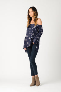 CHARLOTTE OFF SHOULDER TOP | NAVY FLORAL