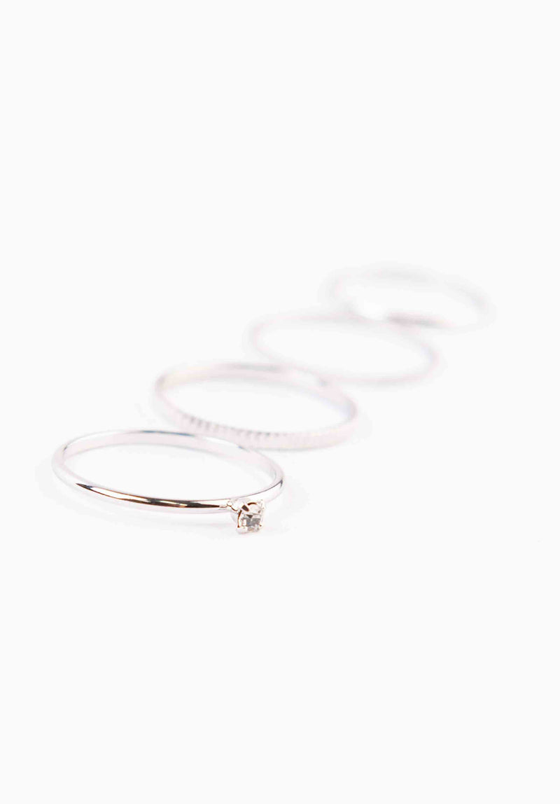 RING SET | WHITE GOLD
