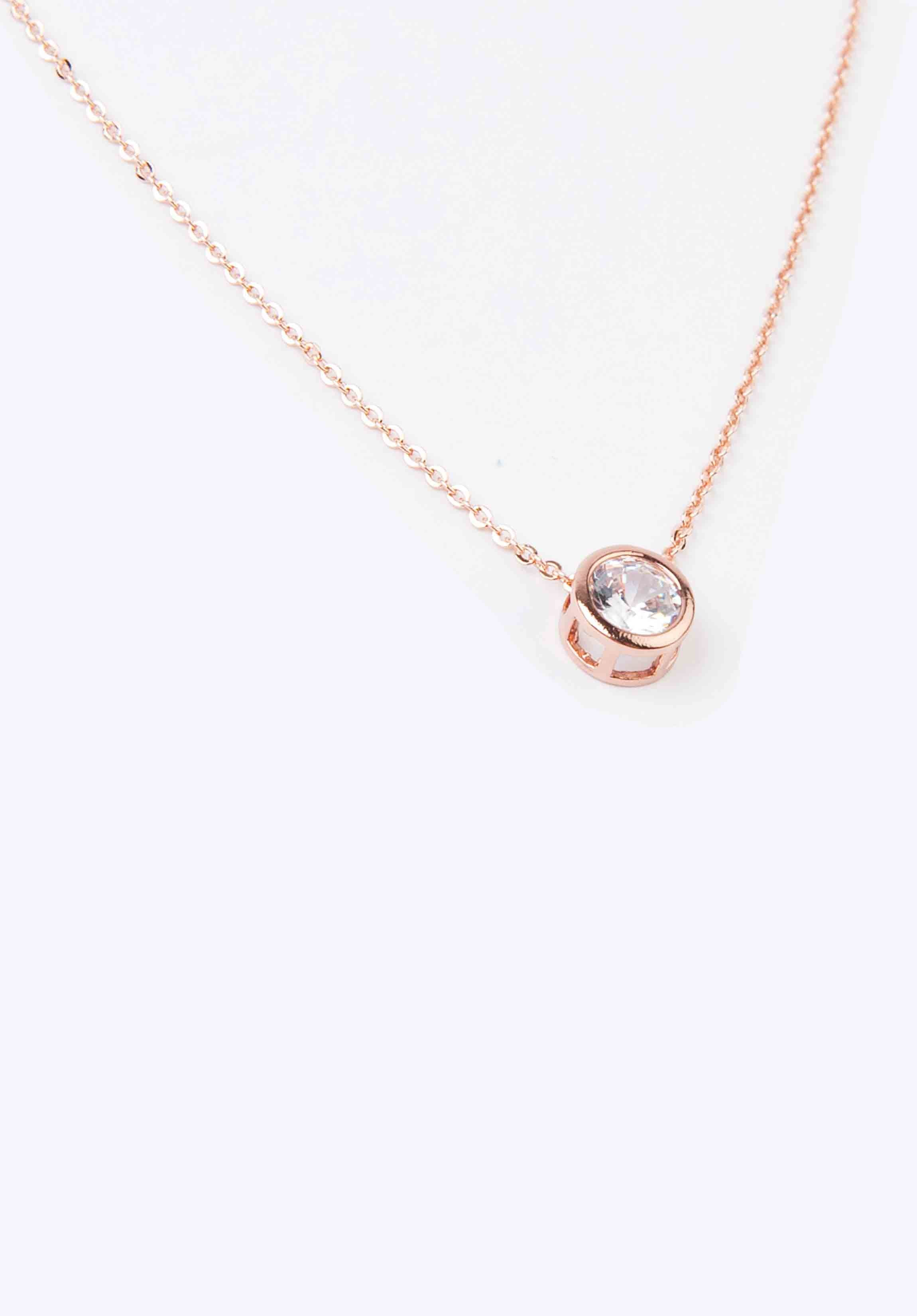 STONE NECKLACE | ROSE GOLD