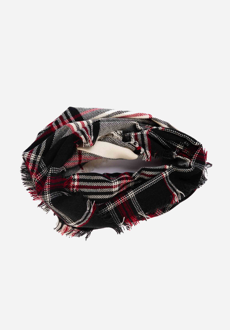 CIRCLE SCARF | HOLIDAY PLAID