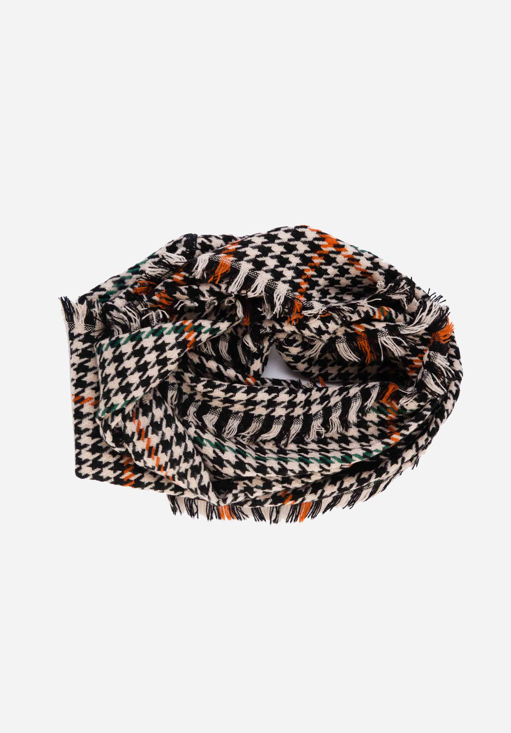 CIRCLE SCARF | HOUNDSTOOTH