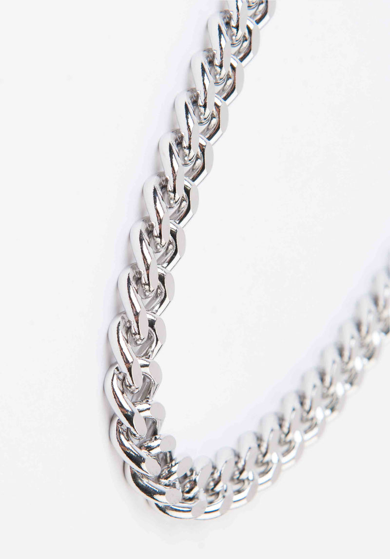 CHUNKY CHAIN NECKLACE | WHITE GOLD