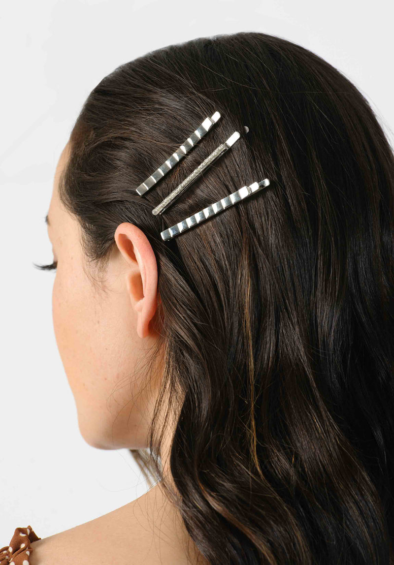 HAIRCLIP SET | SILVER