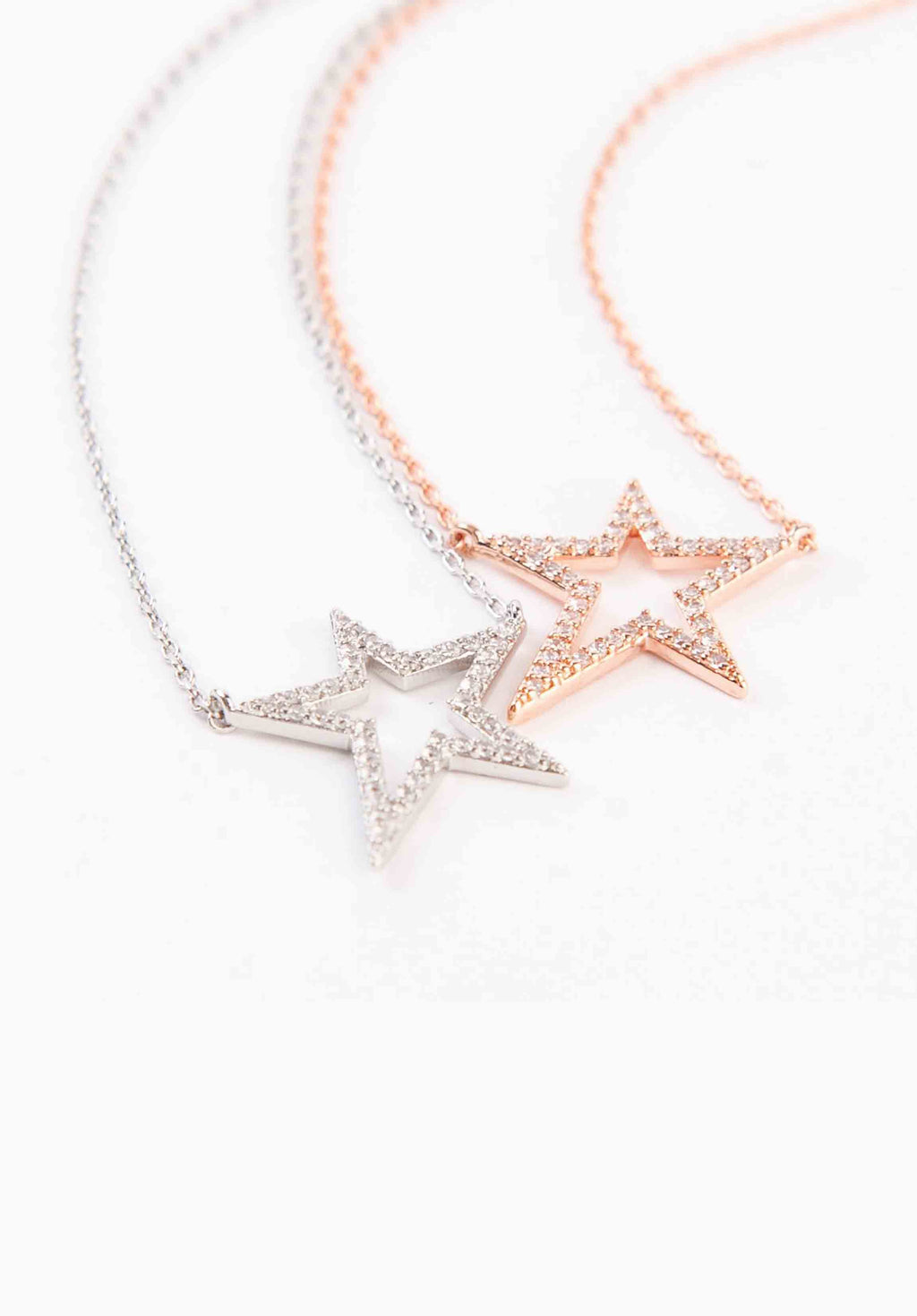STAR NECKLACE | WHITE GOLD
