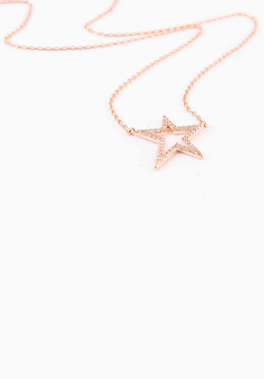 STAR NECKLACE | ROSE GOLD