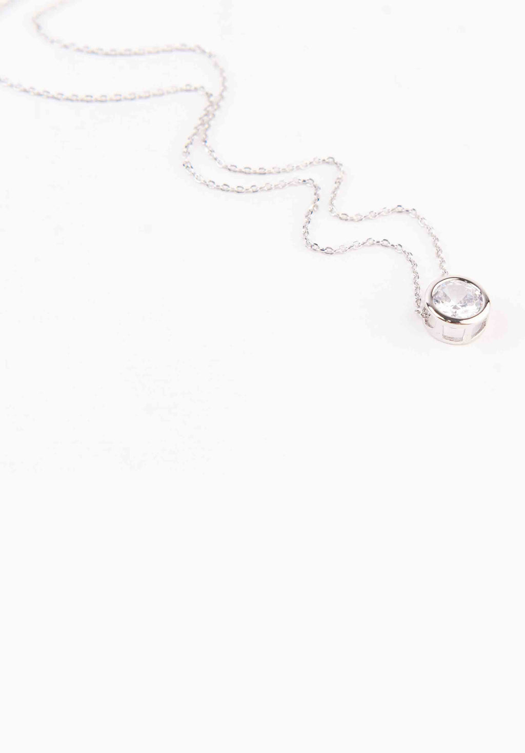 STONE NECKLACE | WHITE GOLD