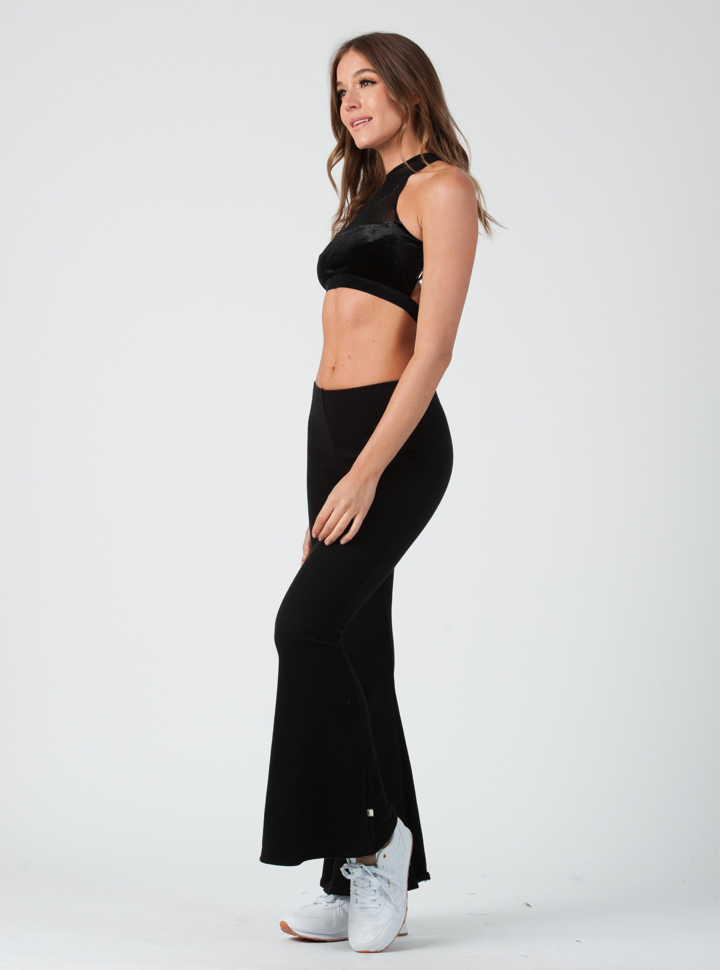 Luna Black Velvet Sports Bralette