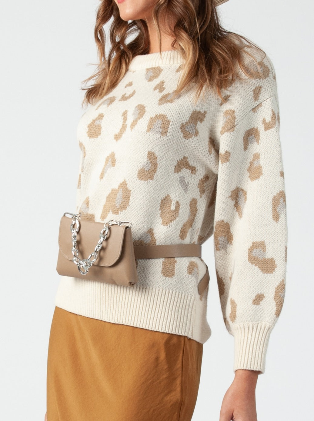 Samara Taupe Belt and Multi Way BaG