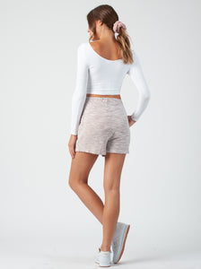 LILITH FRENCH LILAC TERRY LOUNGE SHORTS