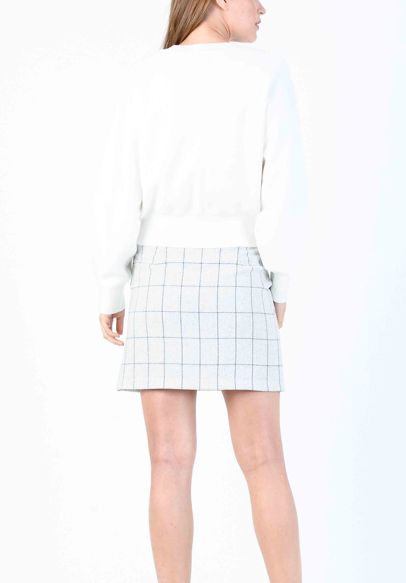 LILLIANA A-LINE MINI SKIRT | SNOW PLAID