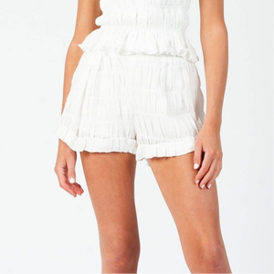 SUSANNAH CUFFED SHORTS | WHITE
