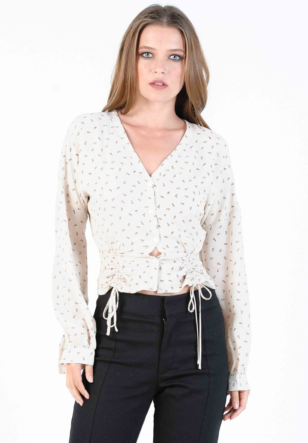 MISTLETOE RAGLAN TOP l IVORY LEAF