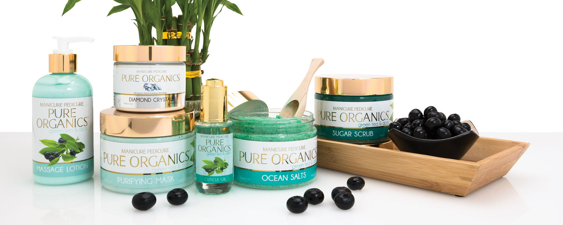 Luxurious pro grade spa products pure organics manicure for Nail salon equipment and supplies