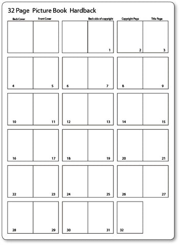 32 Page thumbnail page layout for picture book