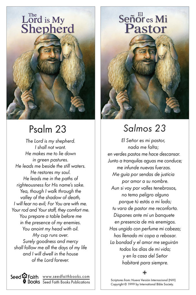 picture relating to Psalm 23 Printable referred to as Psalm 23 Printable - E book Marks - PDF Seed Religion Publications