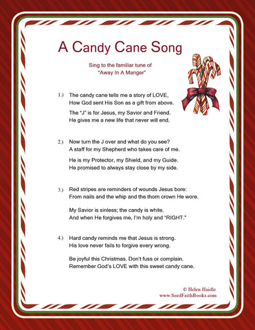 picture about Candy Cane Story Printable identified as Legend of the Sweet Cane - The Candymakers Reward tagged