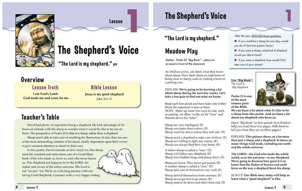 Psalm 23 Lesson Resources for 5-10 yr & 4-6 yr - Downloads