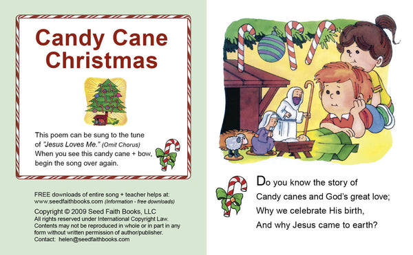 Candy Cane Christmas pocket book