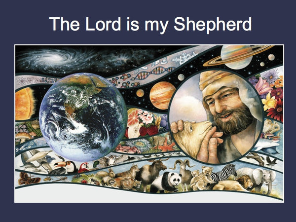 Psalm 23 Power Points - 4 Bible versions (Scripture only, no text from book)