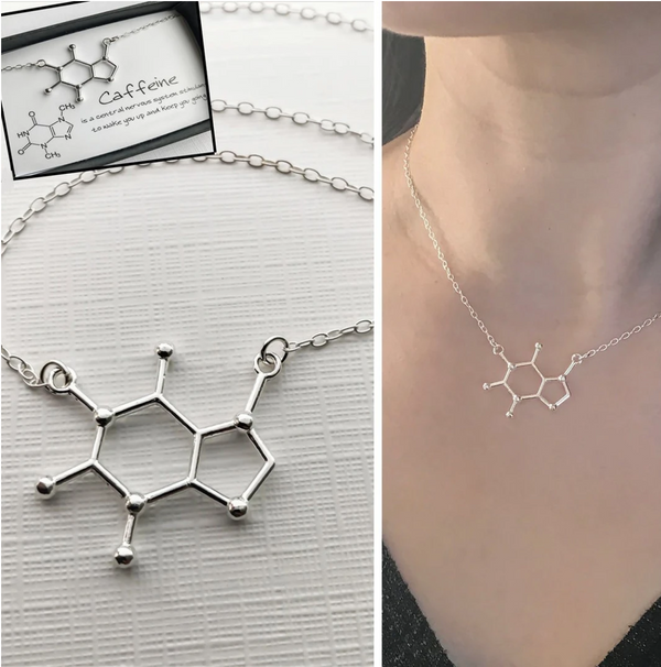 Cafeïne Molecuul Ketting
