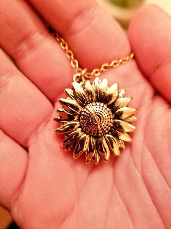 'You are my sunshine'  Zonnebloem Ketting