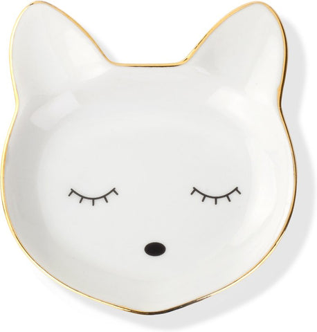 Cat Face Ceramic Tray