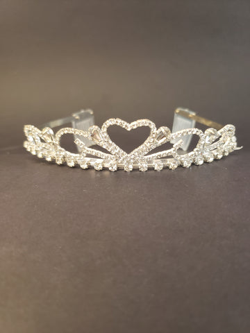 Sweetheart Tiara with Combs (16235)