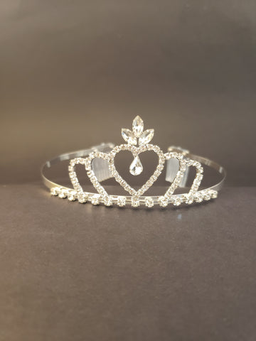 Triple Heart Crown Tiara (15674)