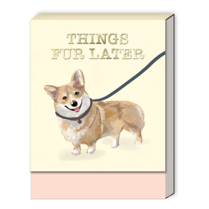 Things Fur Later (Corgi) Pocket Notepad