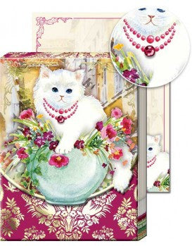 Kitten Vase - Pocket Notepad