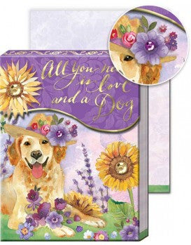 Dog & Sunflower - Pocket Notepad