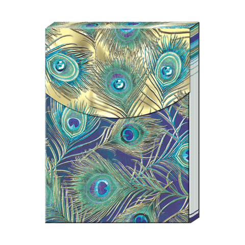 Peacock Feather Pocket Notepad