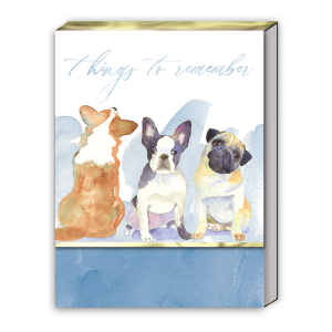 Things To Remember Dog Trio Pocket Notepad