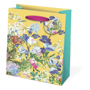 Floral Yellow Medium Gift Bag