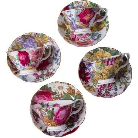 Garden Party Tea Cup and Saucer