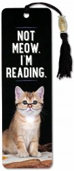 Not Meow. I'm Reading. Beaded Bookmark