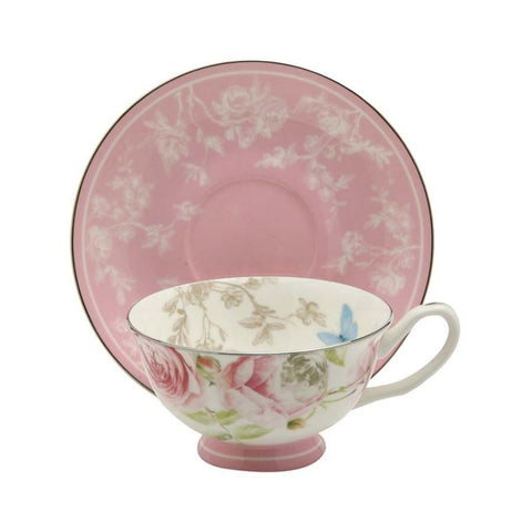 Beau Rose Teacup and Saucer