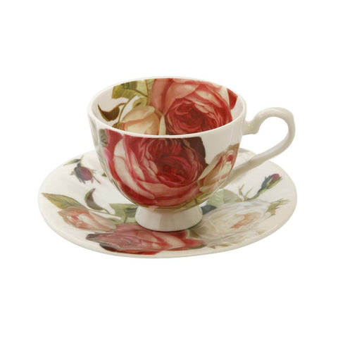 Blush Rose Teacup and Saucer
