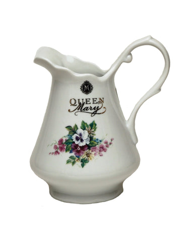 Queen Mary Signature Creamer Bouquet of Pansies