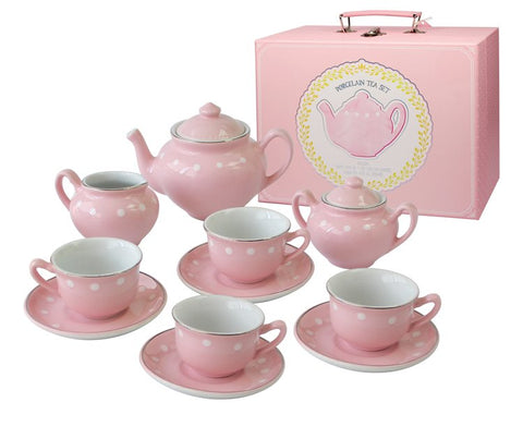 Porcelain Tea Set - Pink