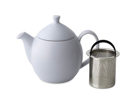 Dew Satin Teapot With Basket Infuser 32 oz Lavender Mist